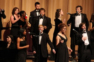 Photo of vocal jazz ensemble Gold Company