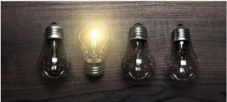 photo of four light bulbs