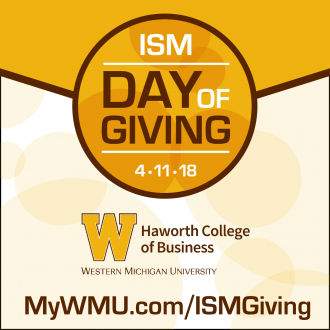 graphic for ISM Day of Giving 4.11.18 mywmu.com/ismgiving