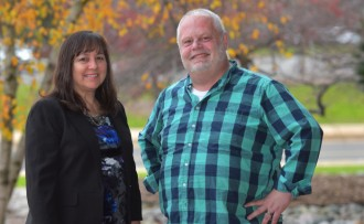 Pictured are Barb Sagara and Paul Hildenbrand.
