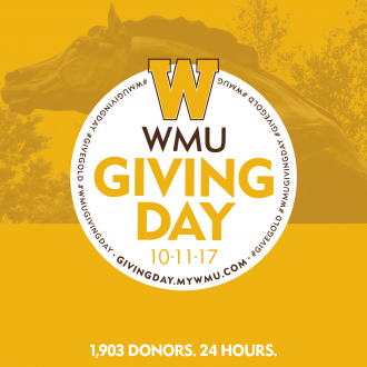Giving Day graphic for Giving Day at WMU