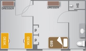 Single Rooms Residence Life Western Michigan University