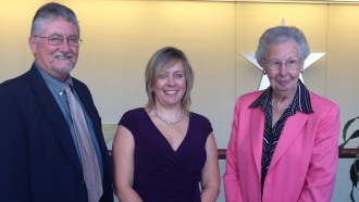 Photo of Dr. Bill Cobern, Mary Burke, and Dr. Jackie Mallinson