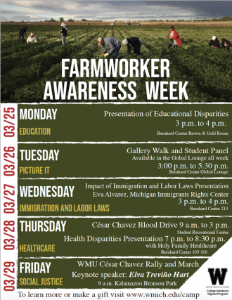 a poster of the farmworker awareness week events