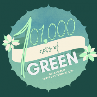 The designed symbol of this year's Earth day is 101,000 Acts of Green.