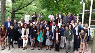 A group photo of students from the first American Economic Association summer program hosted by WMU and MSU.