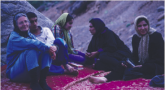 Friedl with a group of women in Sisakht, Iran