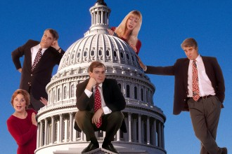 Photo of comedy group The Capitol Steps.