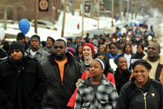 Photo of MLK Day march.