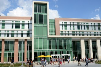 Photo of new Sangren Hall.