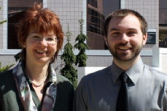 Photo of Dr. Elke Schoffers and David Sellers.