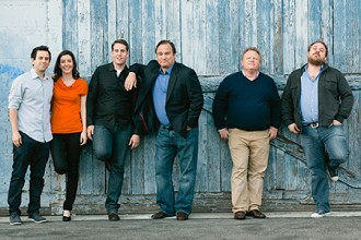 Photo of comedy group Jim Belushi and the Board of Comedy.