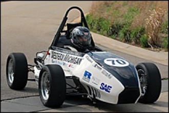 Photo of WMU's SAE formula race car.