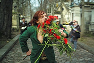 "Photo of scene from movie ""Holy Motors."""