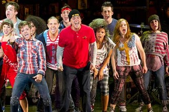Photo of cast of American Idiot.