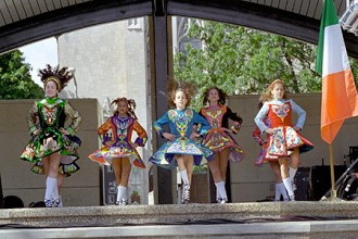 Photo of Irish dancers at the Kalamazoo Irish Fest.