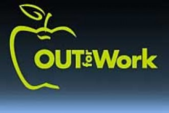 Photo of Out for Work logo.