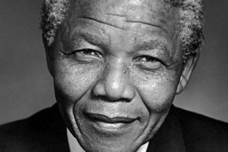 Photo of Nelson Mandela.