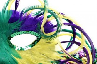 Photo of Mardi Gras mask.
