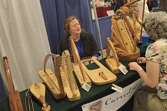 Photo of musical instrument vendor.