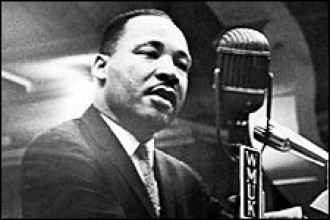Photo of Martin Luther King Jr. at WMU.