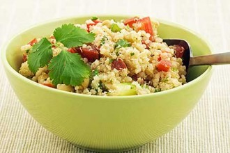 Photo of quinoa salad.