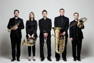 Photo of the Gaudete Brass Quintet.