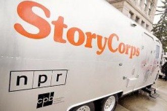 Photo of StoryCorps van.