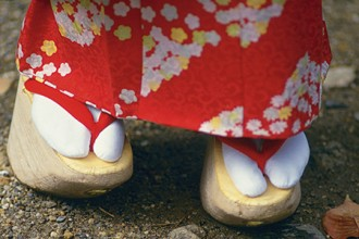 Photo of traditional Japanese footwear.