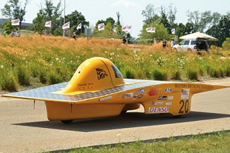 Photo of WMU's Sunseeker solar race car.