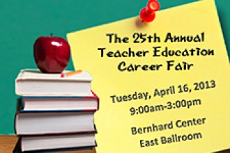 Poster for Teacher Education Career Fair.