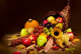 Photo of a Thanksgiving harvest.
