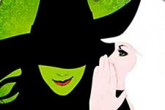 Photo of poster for musical Wicked.