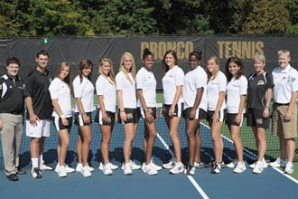 Photo of the 2012-13 WMU women's tennis team.