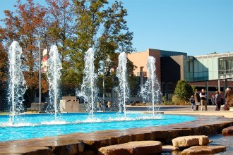 Photo of WMU's Fountain Plaza.