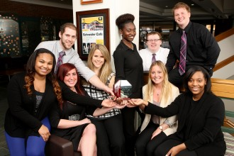 Photo of WMU's advertising and promotion case competition team.