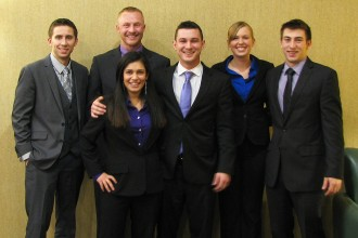 Photo of case competition winning team.