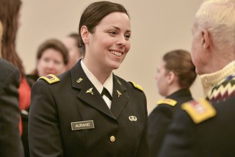 Photo of ROTC cadet Shelley Aurand.
