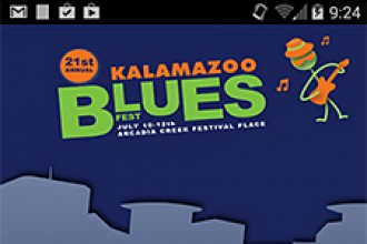 Image of the Kalamazoo Blues Festival app.