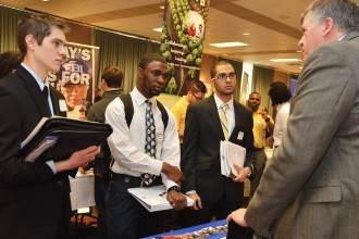 Photo of 2013 Career Fair attendees.