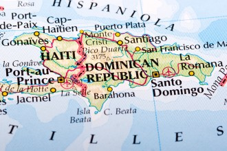 Photo of a map of the Dominican Republic.