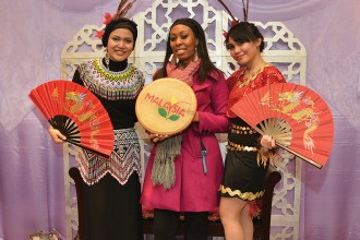 Photo of students from the Malaysia Club at the 2013 International Festival.