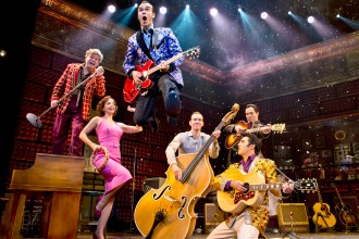 Photo of cast members from the musical Million Dollar Quartet.