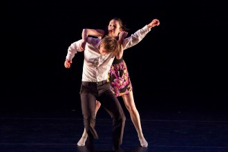 Photo of dancers performing the piece My Hyphen.