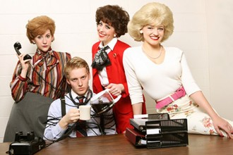 Photo of student actors in 9 to 5 The Musical.