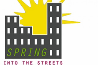 Spring Into the Streets logo.