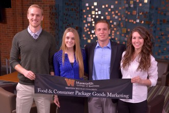 Photo of food and consumer package goods marketing program.