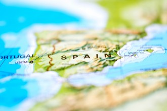 Photo of a map of Spain.