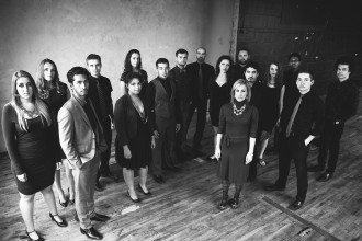 Photo of vocal jazz ensemble Gold Company.