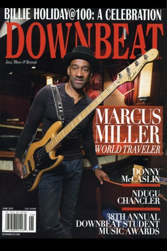 Photo of a cover of DownBeat Magazine.